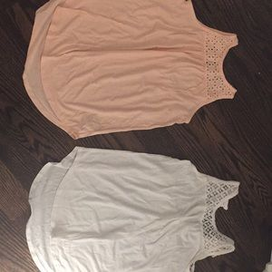 Two lace tanks!